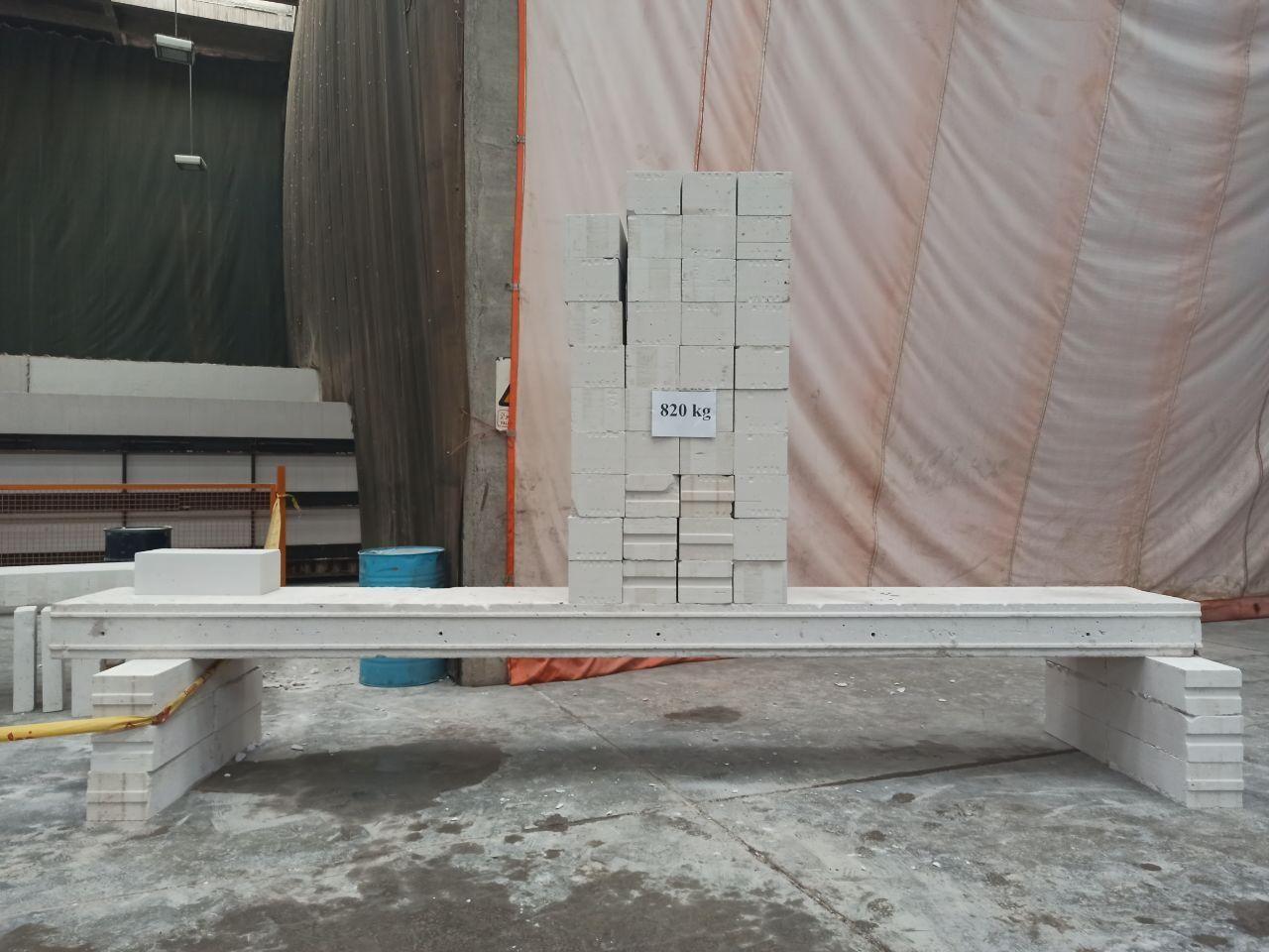 تست بارگذاری سقف پانل مسلح پرین در کارخانه