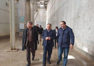 بازدید معاون وزیر و رییس سازمان نوسازی ازکارخانه پرین بتن آمود