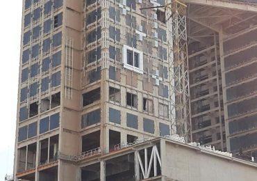 استفاده از عایق رطوبتی پرین در نمای ساختمان زیبا سازه - مشهد
